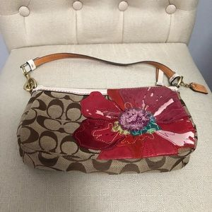 Limited edition coach flowered bag